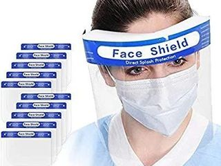 Safety Full Face Shield Clear Protector Work Medical Dental Standard Size 10 pcs