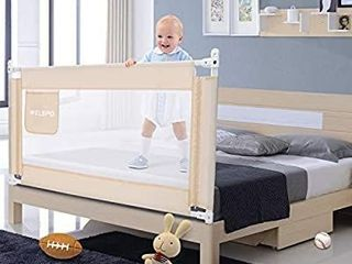 59 Inches Bed Rail for Toddlers Fold Down Safety Baby Bed Guard Swing Down Bedrail for Convertible Crib