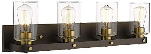 Emliviar 4 light Bronze Bathroom light  Industrial Vanity light Fixture