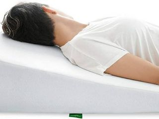 Cushy Form Wedge Pillow for Sleeping 10 Inch Memory Foam