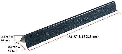 QuliMetal 7540 24 5 Inch Flavor Bars for Weber Genesis 300  E310 E320 S310 S320 EP CEP 310   320  with Side Control Panels  Porcelain Enameled Steel Heat Plates for Weber 3 Burner Grill Parts 7539