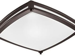 GetInlight lED Flush Mount Ceiling light  16 Inch  25W 125W Equivalent  Bronze Finish  3000K Soft White  Dimmable  Square  Dry location Rated  ETl listed  IN 0317 3 BZ
