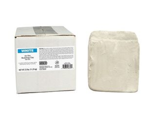 AMACO 25  Pound Air Dry Clay  Moist  White