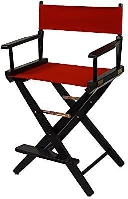 American Trails Extra Wide Premium 24  Director s Chair Black Frame with Red Canvas  Counter Height