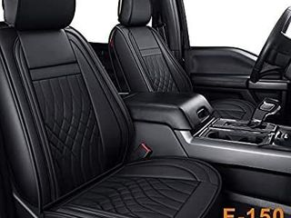lUCKYMAN ClUB Full Set Seat Covers fit for F150 Crew Cab from 2015 to 2020 and fit for F250 F350 F450 Crew Cab from 2017 to 2020 with Water Proof Faux leather