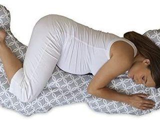 Boppy Slipcovered Total Body Pregnancy Pillow  Gray White