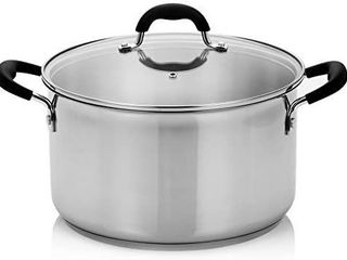 Stainless Steel 8 Quart Stock Pot with Cover