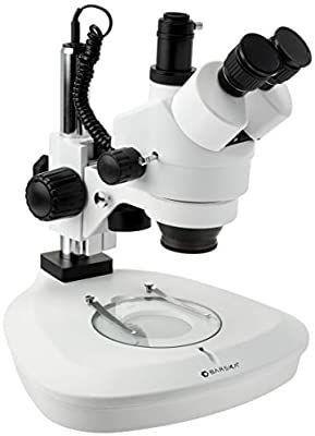 BARSKA AY13178 7X 45X Trinocular Stereo Zoom Microscope