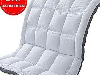 SUFUEE Mattress Topper Full   Mattress Pad Protector   Quality Plush luxury Down Alternative Pillow Top