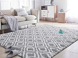 Soft Area Rugs for Bedroom living Room Shaggy Patterned Fluffy Carpets