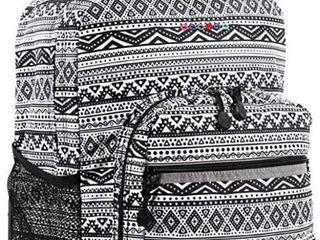 J World New York Sunrise Rolling Backpack Tribal Design