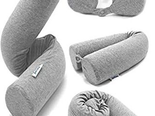 Jetsey Twist Memory Foam Travel Pillow for Neck  Chin  lumbar  and leg Support
