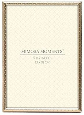 MIMOSA MOMENTS Dot Pattern Metal Picture Frame with Thin Edge
