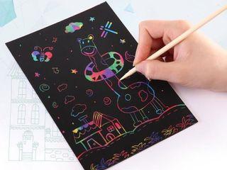 Magic Color Rainbow Scratch Art Paper Card Set