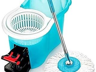 Hurricane Spin Mop Home Cleaning System by BulbHead  Floor Mop with Bucket Hardwood Floor Cleaner No mop heads