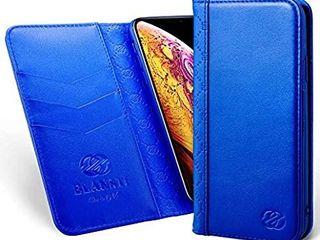 Elansti iPhone 8s iPhone 7 Wallet Case  Premium Italian Cowhide leather Folio Flip Cover with Kickstand