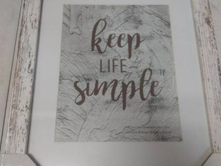Keep life Simple Rustic Sign