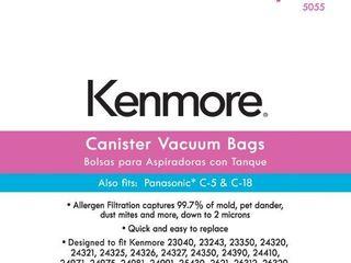 Canister Vacuum Bag for C  Q  Panasonic 8482  C 5   C 18   8 pk