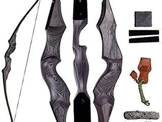 SinoArt 58  Takedown Recurve Bow Bamboo limbs Archery Right and left Handed Riser Bow for Hunting Target Shooting 30 60lbs