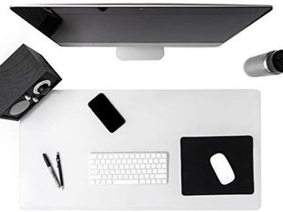 Awnour Clear Desk Pad Blotter on Top of Desks   36 x 20 inches   Non Slip Desk Writing Mat for Office and Home   Round Edges   Textured   Mouse Pad Included   36 x 20