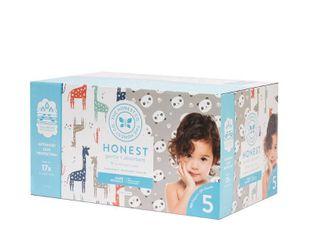 The Honest Company Disposable Diapers Super Club Box Pandas   Giraffes   Size 5   100ct
