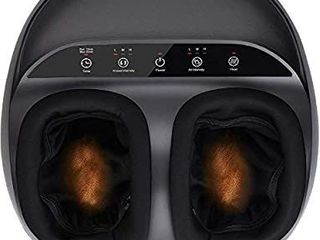 RENPHO Foot Massager Machine with Heat  Shiatsu Deep Kneading  Squeeze  Relieve Foot Discomforts from Plantar Fasciitis  Fits feet up to Men Size 12