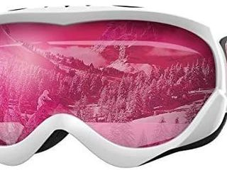 OutdoorMaster Kids Ski Goggles   Helmet Compatible Snow Goggles for Boys   Girls with 100  UV Protection