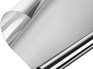 One Way Window Film  Privacy Window Tint for Home  UV Blocking Mirror Reflective Heat Control Glass Film Non Adhesive Static Cling Daytime Privacy Protection Vinyl Silver 35 4In x 6 56Ft