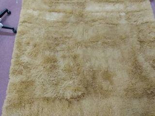 Super soft light brown shag area rug  large