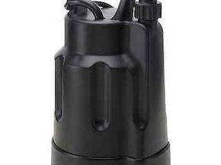 Utility Utilitech Thermoplastic Submersible Utility Pump 1 6 Hp  0955646