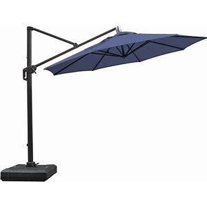 11 ft lED Cantilever Umbrella built in power efficient lED lights solar model number AG 45R ldt 2 lS2