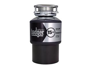 Badger InSinkErator 15ss 3 4 horsepower motor model number Badger 15 SS   1