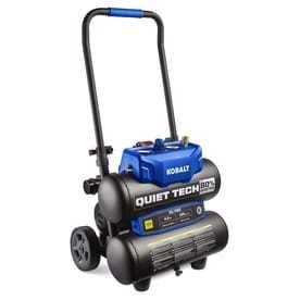 Kobalt Quiet Tech 4 3 Gallon Portable Electric Twin Stack Quiet Air Compressor