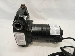 Utilitech 1 2 hp Cast Iron Electric Utility Transfer Pump   G689 25gpm