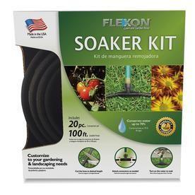 Flexon 100ft 20 Piece Garden Soaker Hose Kit