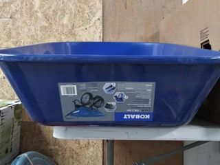 Kobalt 7 cubic foot heavy duty wheelbarrow no accessories Barrel only comes as pictured