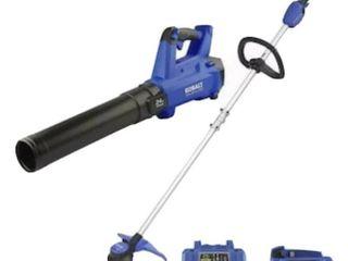 Kobalt 24v Max Brushless Cordless Blower   String Trimmer Combo Kit 856457