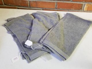 Norwex body towels small set of 3 graphite  new