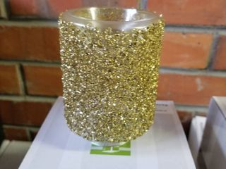 Scentsy glitter gold plug in warmer New