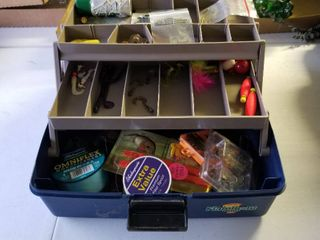 Flambeau tackle box with accessories