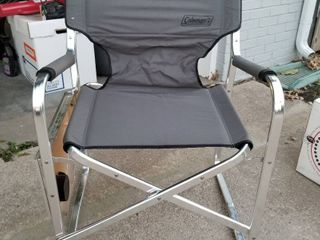 Coleman folding chair with cup holder