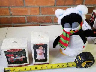 Hallmark Keepsake Ornaments and musical penguin