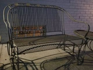 Gliding rocker and side tables patio set
