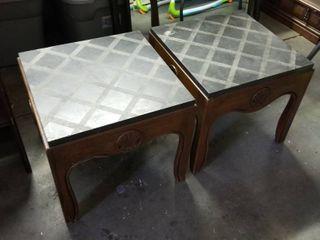 End tables w slate top 16 x 18 set of 2