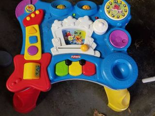 playskool upright musical standers in english and Spanish