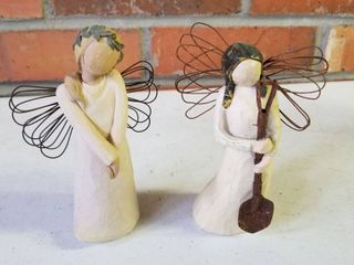Willow Tree set of 2  Angel of the Garden and Celebrate 5  each