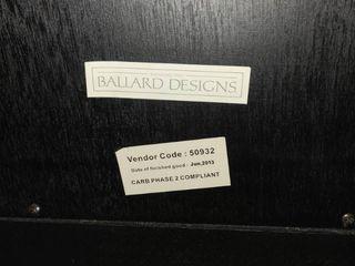 Ballard Designs Black Wood 360 Degree Rotating Top TV Stand with Storage 32 x 28 x 20 in