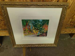Framed Garden Art 19 x 20 5 in