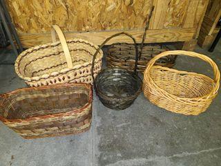 Wicker Baskets lot of 5