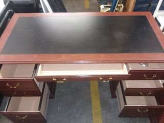 Wood 3 Piece Desk 30 x 64 x 21 in and 30 x 66 x 31 in Top is 31 x 66 x 24 in